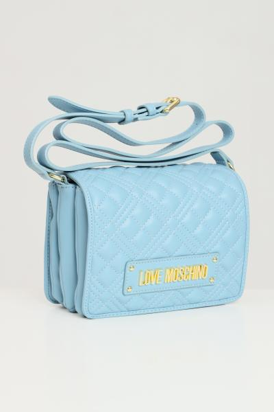 LOVE MOSCHINO Borsa quilted donna azzurro moschino con tracolla  Borse | JC4002PP1C-LA0700