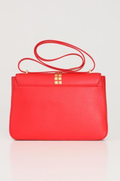 LOVE MOSCHINO Borsa donna rosso love moschino con tracolla e applicazione lucchetto oro frontale  Borse | JC4091PP1C-LN0500
