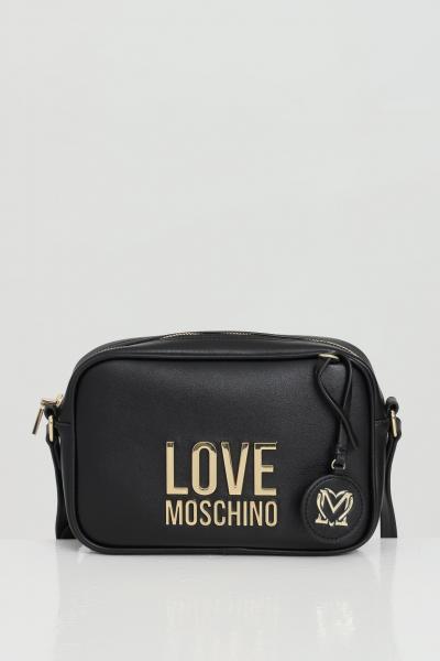 LOVE MOSCHINO Borsa donna nero love moschino con tracolla in pelle e chiusura con zip. Logo in acciaio  Borse | JC4107PP1C-LJ000A