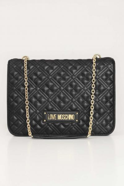 LOVE MOSCHINO Borsa donna nero love moschino modello shopper trapuntato con logo oro  Borse | JC4201PP0C-KA0000