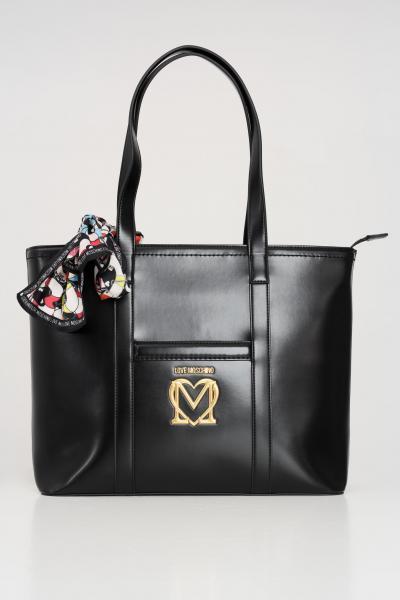 LOVE MOSCHINO Borsa donna nero love moschino shopper con foulard incluso  Borse | JC4263PP0C-KK0000