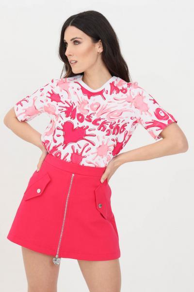 LOVE MOSCHINO T-shirt donna multicolor rosa love moschino a manica corta  T-shirt   W4F1500M42830013