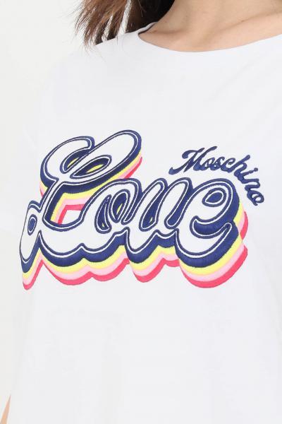 LOVE MOSCHINO T-shirt donna bianco love moschino a manica corta  T-shirt   W4F302GE1951A00