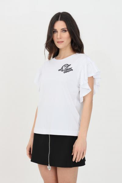 LOVE MOSCHINO T-shirt donna bianco love moschino a manica corta  T-shirt   W4H4101M3876A00