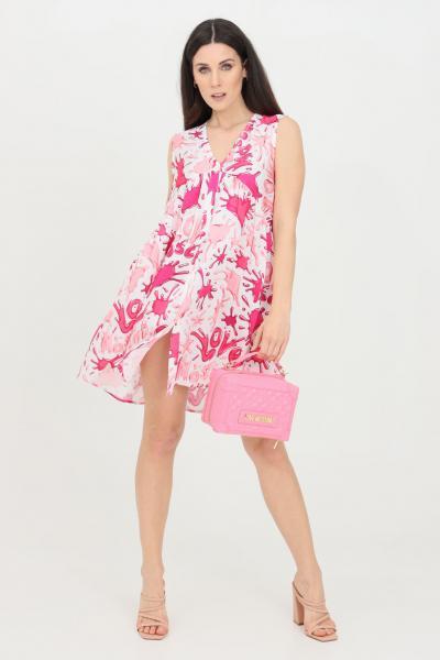 LOVE MOSCHINO Abito donna rosa love moschino corto modello camicia  Abiti   WCE1100T110A0013