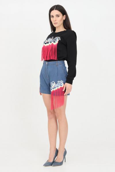 LOVE MOSCHINO Shorts donna denim love moschino casual con frange  Shorts   WO14502S3534055E
