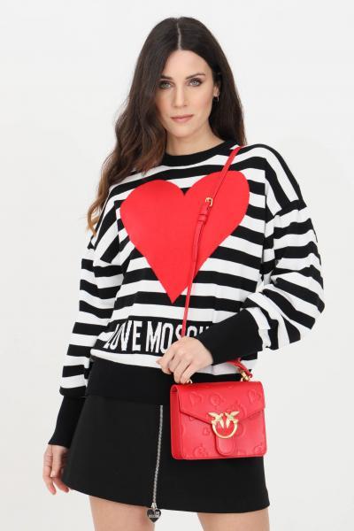 LOVE MOSCHINO Maglia donna nero striped love moschino girocollo  T-shirt   WS63G10X1404C74