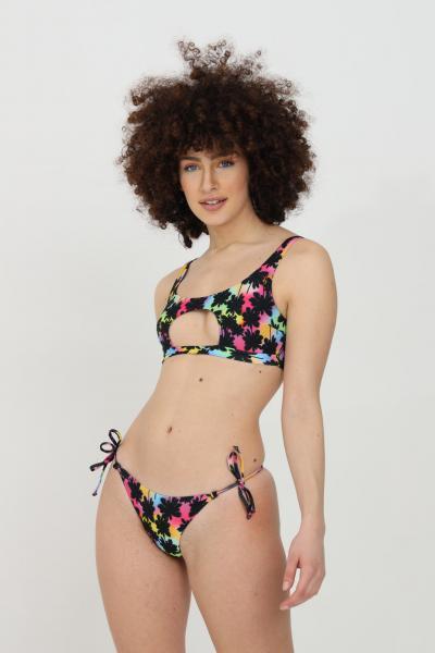 MATINèE Beachwear costume donna multicolor matinee bikini completo con stampa summer e intaglio centrale. Chiusura laterale con fiocco  Abbigliamento da spiaggia | CB2043PALME