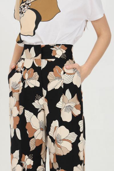 MAX MARA Pantalone donna fantasia max mara elegante a vita alta con fondo dritto. Stampa flower vintage  Pantaloni   61310811600002