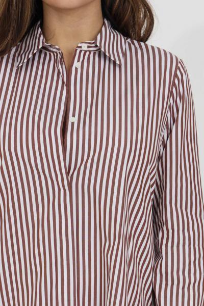 MAX MARA Abito camicia Giara donna tabacco max mara corto con stampa a righe. Colletto classico. Chiusura frontale con bottoni logati nascosti. Maniche lunghe  Abiti   62210711600005