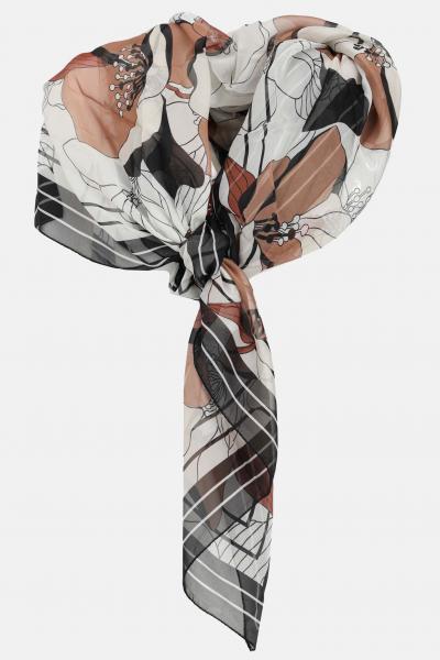 MAX MARA Sciarpa donna a fantasia max mara, stola in seta con stampa allover. Modello leggero con trasparenza  Sciarpe   65410211600001