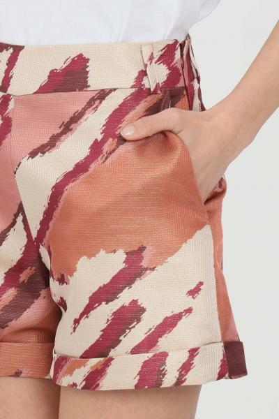 NBTS Shorts donna multicolor nbts casual con stampa glitter allover, tasche laterali e chiusura con zip  Shorts | NB21015.