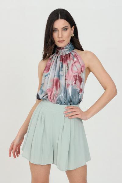 NBTS Body donna multicolor nbts elegante smanicato con stampa allover. Modello comodo a collo alto. Chiusura con gancetti  Body | NB21043.