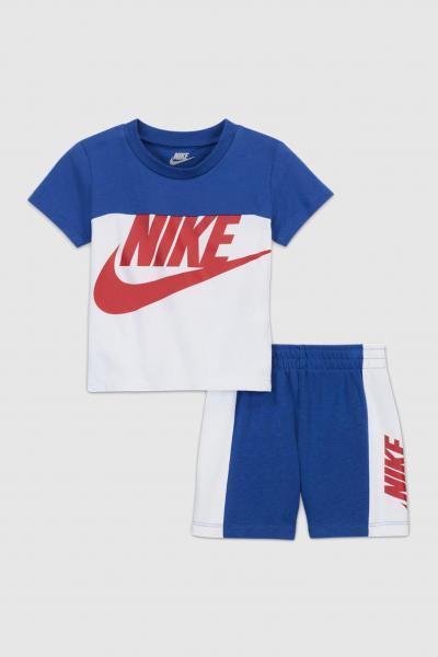 NIKE Completino neonato blu nike t-shirt e shorts  Completini   66H363-U89U89