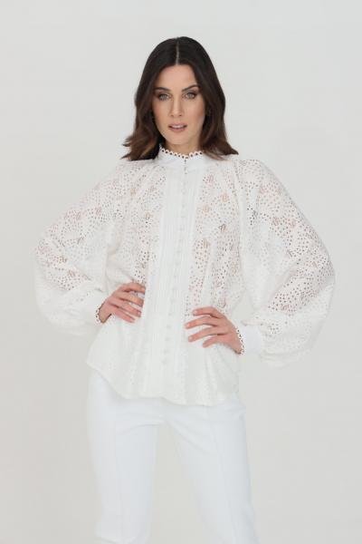 ODI ET AMO Camicia donna bianca odi et amo elegante traforata con bottoni  Camicie | 089T1BIANCO