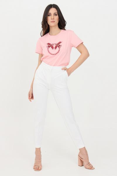 PINKO Pantalone donna bianco pinko elegante modello cigarette  Pantaloni | 1G15LF-5872Z05