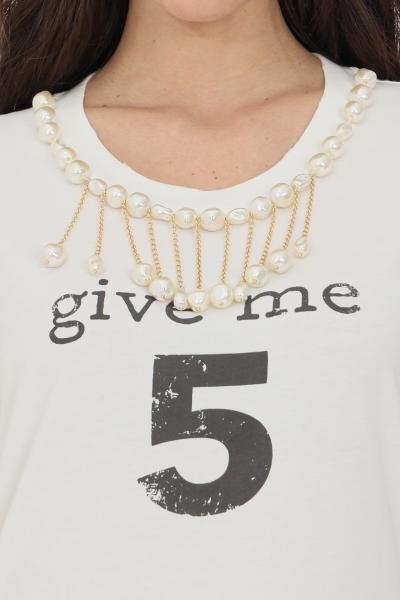 PINKO T-shirt donna bianca Pinko manica corta in jersey  T-shirt | 1G15NU-Y6YXZ14