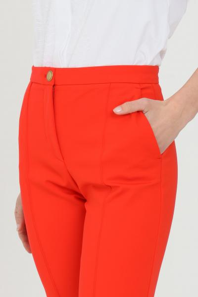PINKO Pantalone donna rosso pinko elegante. Chiusura centrale con bottone metallico  Pantaloni | 1G15SC-5872R25