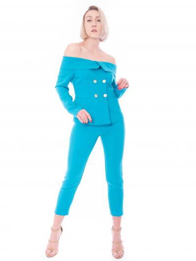 PINKO Giacca donna azzurra pinko in crepe doppiopetto  Tailleur | 1G15VS-8385U98