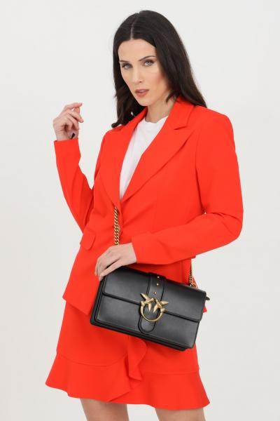 PINKO Giacca donna rossa pinko con bottone oro. Vestibilità slim  Giacche | 1G160B-5872R25