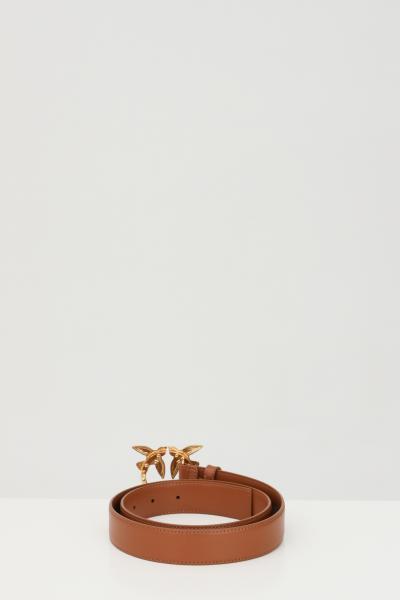 PINKO Cintura donna marrone pinko con fibbia logata metallica  Cinture | 1H20WK-Y6XFL58