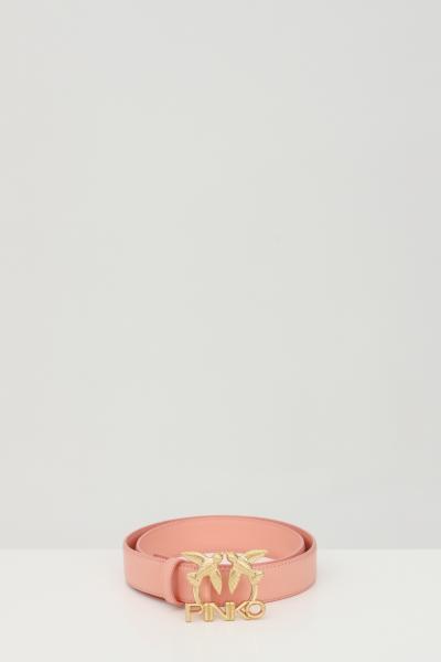 PINKO Cintura donna rosa pinko con fibbia logata metallica  Cinture | 1H20WK-Y6XFN29