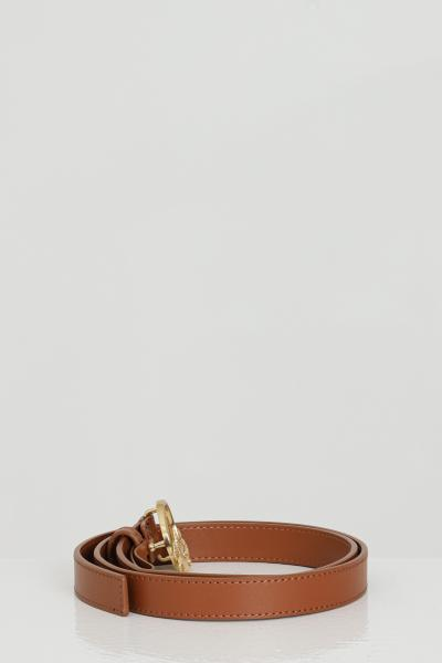 PINKO Cintura donna marrone pinko con logo gold in acciaio  Cinture   1H20WV-Y6XFL58
