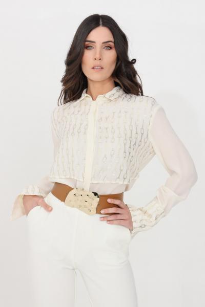 SIMONA CORSELLINI Camicia donna panna simona corsellini elegante  Camicie   P21CPCA009-01-TFLC00110359
