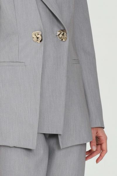 SIMONA CORSELLINI Giacca donna grigia simona corsellini doppiopetto con bottoni oro  Giacche   P21CPGI007-01-TTEL00020505