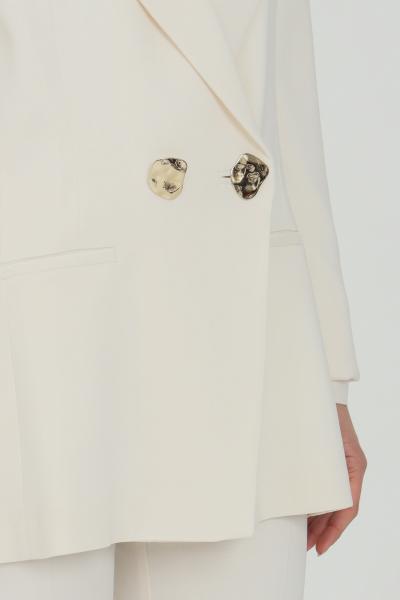 SIMONA CORSELLINI Giacca donna panna simona corsellini doppiopetto con bottoni oro con tasche a filetto. Revers a lancia. Taglio comodo classic  Giacche   P21CPGI012-01-TCAD00010359