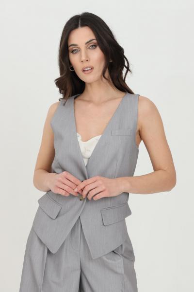 SIMONA CORSELLINI Gilet donna grigio simona corsellini con bottoni sul fronte. Taglio asimmetrico  Gilet   P21CPGL003-01-TTEL00020505