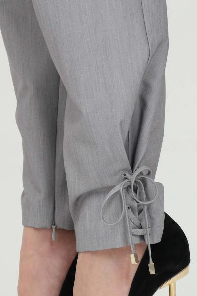 SIMONA CORSELLINI Pantalone donna grigio simona corsellini elegante a vita alta con cintura senza passanti. Tasche laterali e arriccio sul fondo  Pantaloni   P21CPPA006-02-TTEL00020505