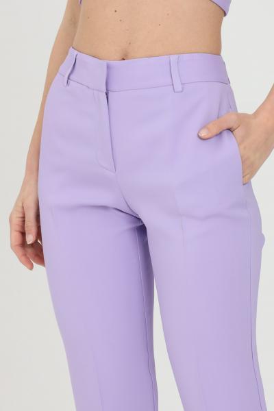 SIMONA CORSELLINI Pantalone donna lavanda simona corsellini elegante modello slim. Chiusura con zip e bottone  Pantaloni   P21CPPA017-01-TCAD00010500