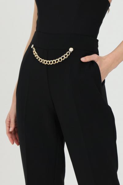 SIMONA CORSELLINI Pantalone donna nero simona corsellini elegante classic con catena in vita  Pantaloni   P21CPPA026-01-TCRP00020003