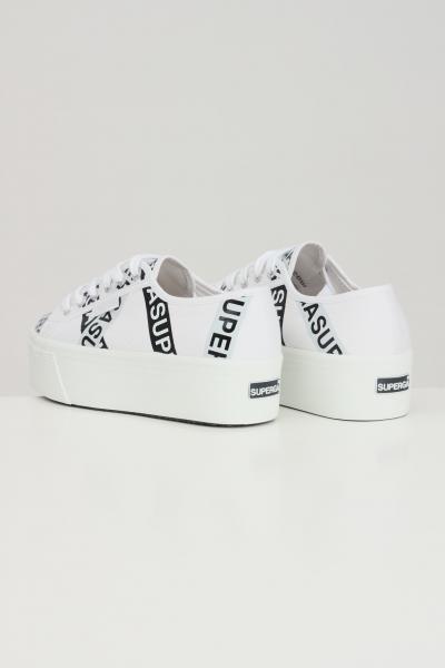 SUPERGA Sneakers superga 2790 tape jellysole donna bianco con stampa lettering  Sneakers | S41161WA0O