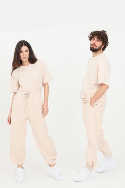 THE FUTURE Pantaloni unisex beige the future casual con coulisse sul fondo  Pantaloni | TF0006BEIGE