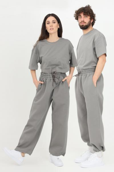 THE FUTURE Pantaloni unisex grigio the future casual con coulisse sul fondo  Pantaloni | TF0006GREY