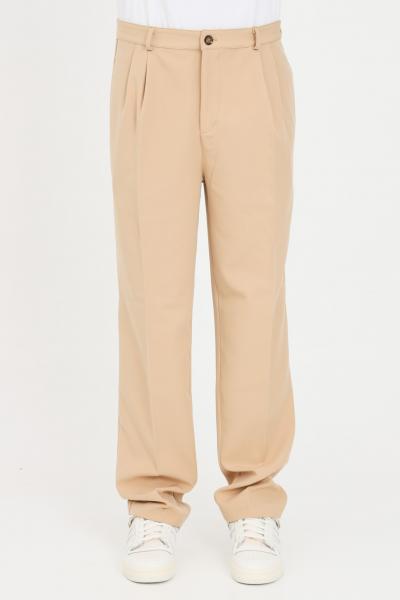 THE FUTURE Pantaloni unisex beige the future casual in tinta unita  Pantaloni | TF0013BEIGE