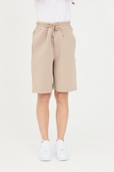 THE FUTURE Shorts unisex beige the future casual in tinta unita  Shorts | TF0017BEIGE