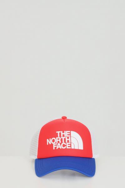 THE NORTH FACE Cappello unisex rosso the north face berretto tricolore con rete e stampa logo frontale  Cappelli | NF0A3FM3Y3B1Y3B1