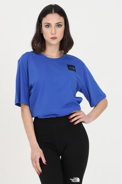 THE NORTH FACE T-shirt fine boyfriends donna blu the north face a manica corta, logo frontale  T-shirt | NF0A4SYACZ61CZ61