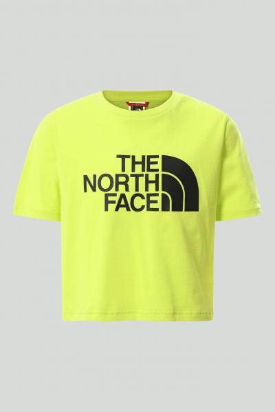 THE NORTH FACE T-shirt easy bambina verde The north face in tinta unita con maxi logo frontale nero, taglio corto  T-shirt | NF0A558XJE31JE31