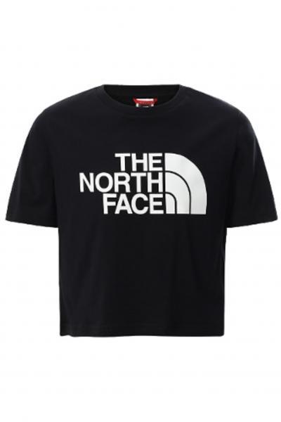 THE NORTH FACE T-shirt easy bambina nera The north face in tinta unita con maxi logo frontale bianco, taglio corto  T-shirt | NF0A558XJK31JK31