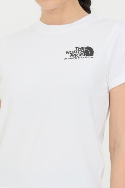 THE NORTH FACE T-shirt coordinates tee donna bianco the north face a manica lunga con stampa sul retro e logo stampato frontale in dimensioni ridotte  T-shirt | NF0A55V1FN41FN41