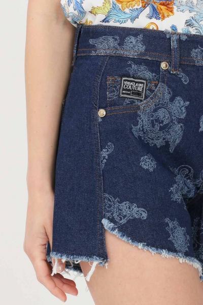 VERSACE JEANS COUTURE Shorts donna denim blue versace jeans couture casual jeans  Shorts | A3HWA13ZARK54904
