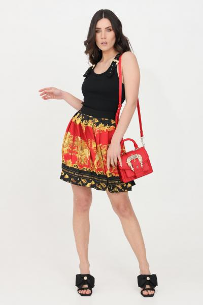 VERSACE JEANS COUTURE Gonna donna fantasia nero-multicolor versace jeans couture corta  Gonne | A9HWA319S0227N84