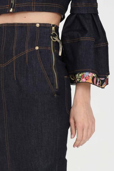 VERSACE JEANS COUTURE Gonna donna denim blue versace jeans couture lunga  Gonne | A9HWA351ARH00904
