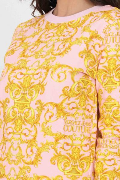 VERSACE JEANS COUTURE Felpa donna fantasia versace jeans couture girocollo  Felpe | B6HWA795S0156402