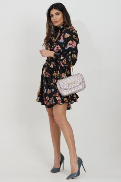 VERSACE JEANS COUTURE Abito donna nero versace jeans couture corto con motivo barocco Versailles  Abiti | D2HWA410S0996899