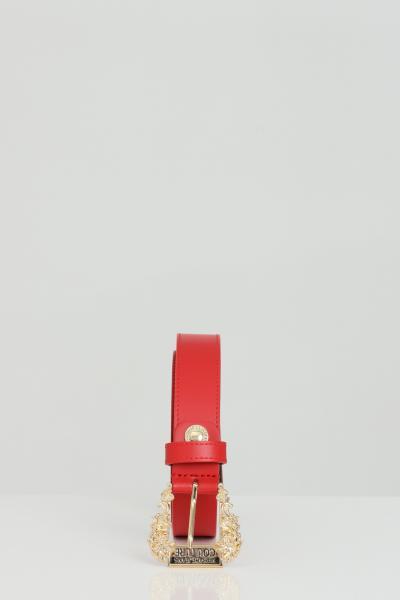 VERSACE JEANS COUTURE Cintura donna rossa versace jeans couture in pelle con fibbia oro light  Cinture | D8VWAF0171627500